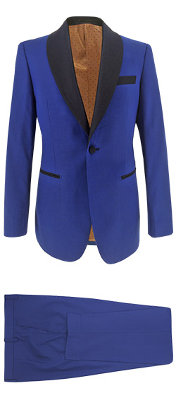 Tailored suit - Blue Tuxedo Blue Lapels