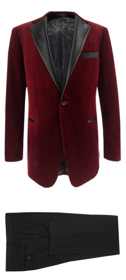 Tailored suit - Garnet Velvet Tuxedo Suit