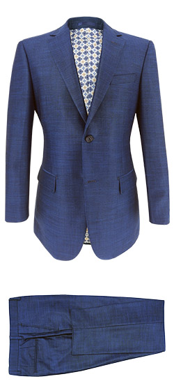 Tailored suit - Turquoise Blue Suit