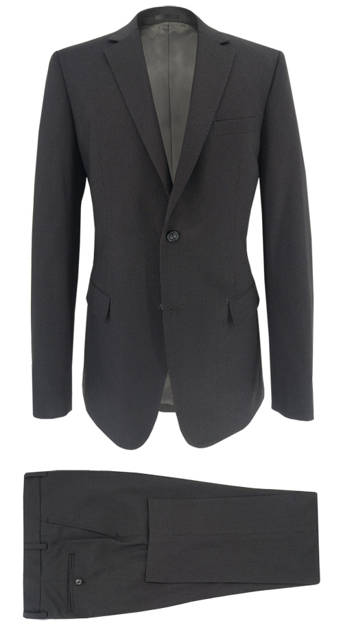 Dark gray suit with thin stripe - Entire suit