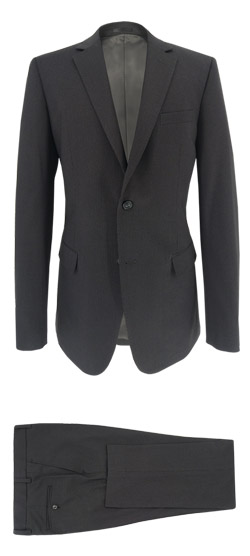 Tailored suit - Dark gray suit with thin stripe