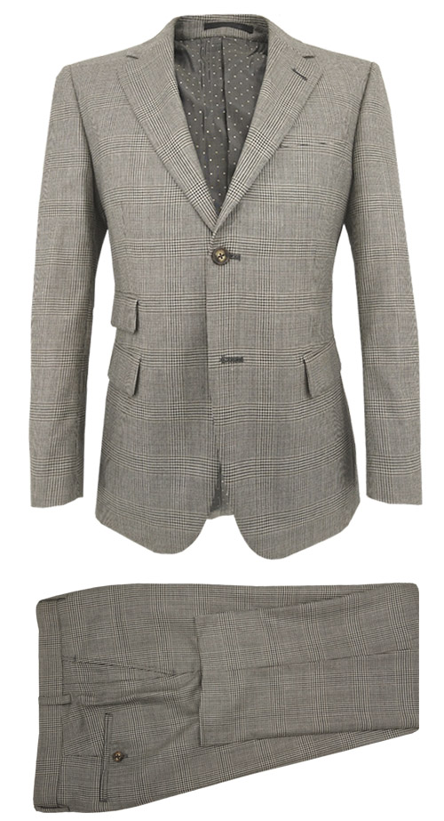 Brown Prince of Wales Suit - Costume complet