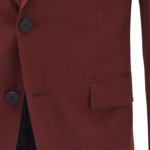 Dark Red Hippie Suit - Inside jacket lining