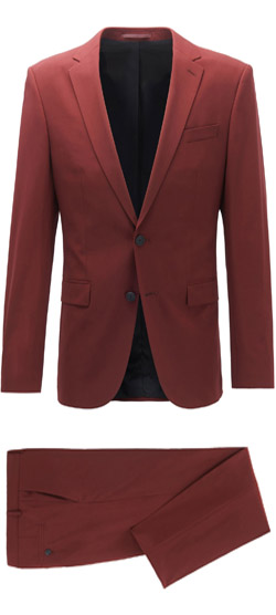 Tailored suit - Dark Red Hippie Suit