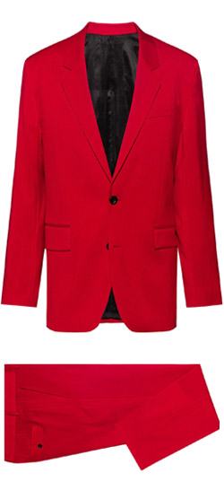 Costume sur mesure - Costume rouge Ferrari