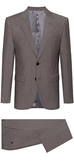 Tailored suit - Light Gray Sharkskin Suit