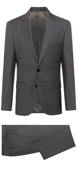 Tailored suit - Gray Sharkskin Suit