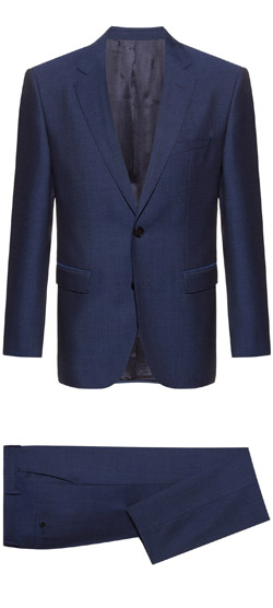 Costume sur mesure - Costume bleu lucky