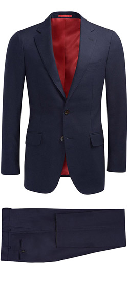 Tailored suit - Dark Blue Silk Suit