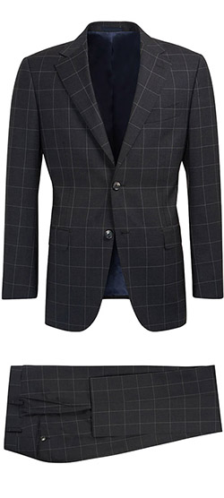 Tailored suit - Dark Navy Checked Suit