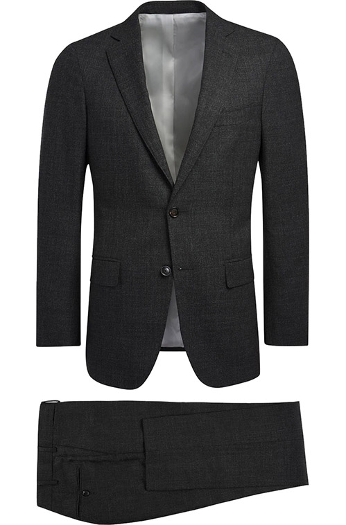 Charcoal Gray Sharkskin Suit