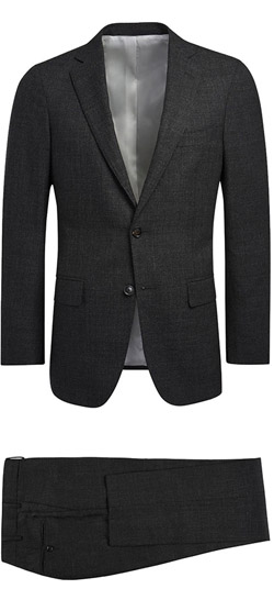Tailored suit - Charcoal Gray Sharkskin Suit