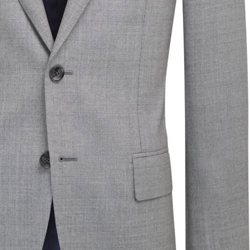 Chatelle Gray Sharkskin Suit - Inside jacket lining