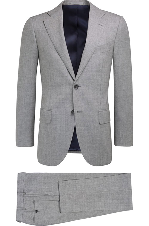 Chatelle Gray Sharkskin Suit - Entire suit
