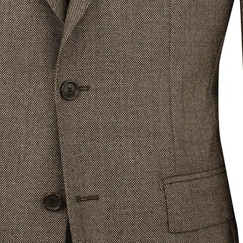 Light Brown Tweed Suit - Inside jacket lining