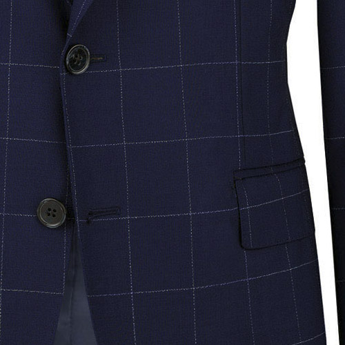 Blue Checked Suit - Inside jacket lining