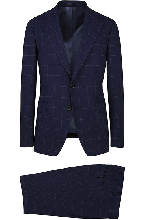 Blue Checked Suit - Entire suit