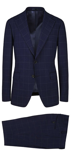 Tailored suit - Blue Checked Suit