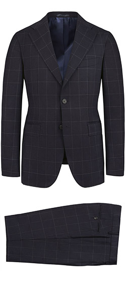 Tailored suit - Haiti Blue Checked Suit