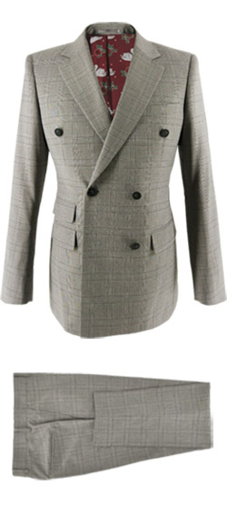 Tailored suit - Light Gray Check Prince of Wales Suit