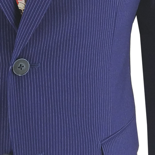 Blue Fine Stripe Suit - Inside jacket lining