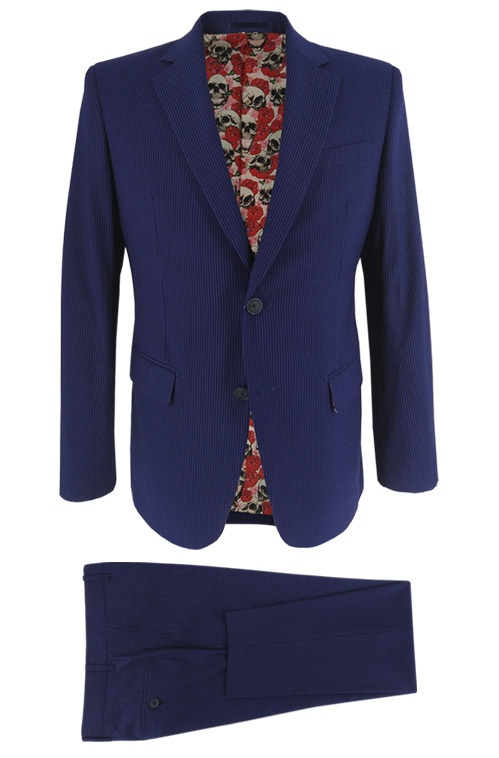 Blue Fine Stripe Suit - Entire suit