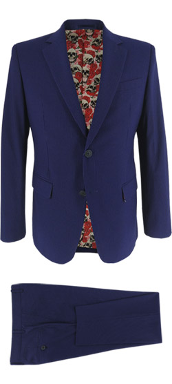 Tailored suit - Blue Fine Stripe Suit
