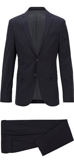 Tailored suit - Elastic Dark Blue Navy Suit