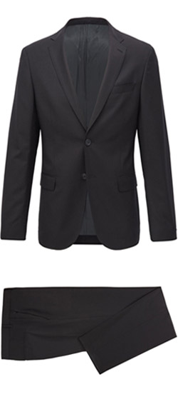 Tailored suit - Elastic Plain Black Suit