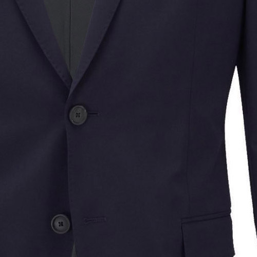 Elastic Blue Navy Suit - Inside jacket lining