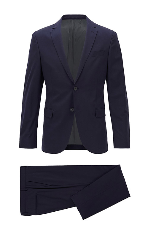 Elastic Blue Navy Suit - Entire suit