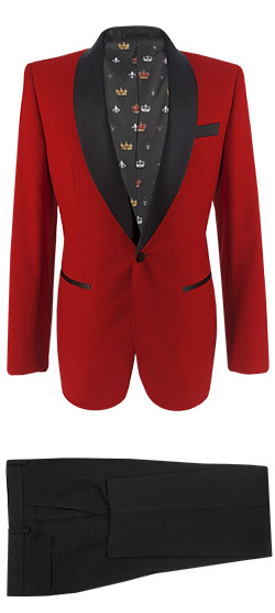 Tailored suit - Ferrari Red Tuxedo Suit