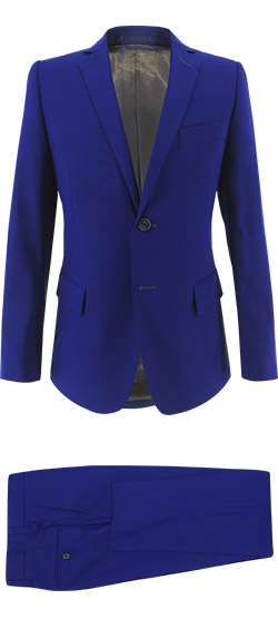 Tailored suit - Solid Electric Blue Suit