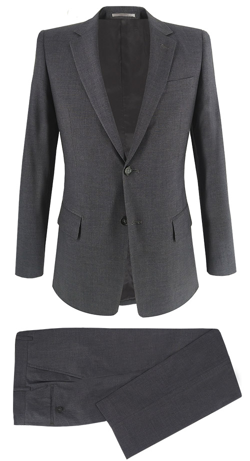 Basic Gray Elastic Suit - Entire suit