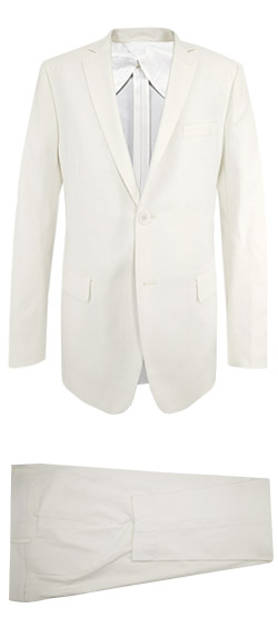 Costume sur mesure - White Linen Suit