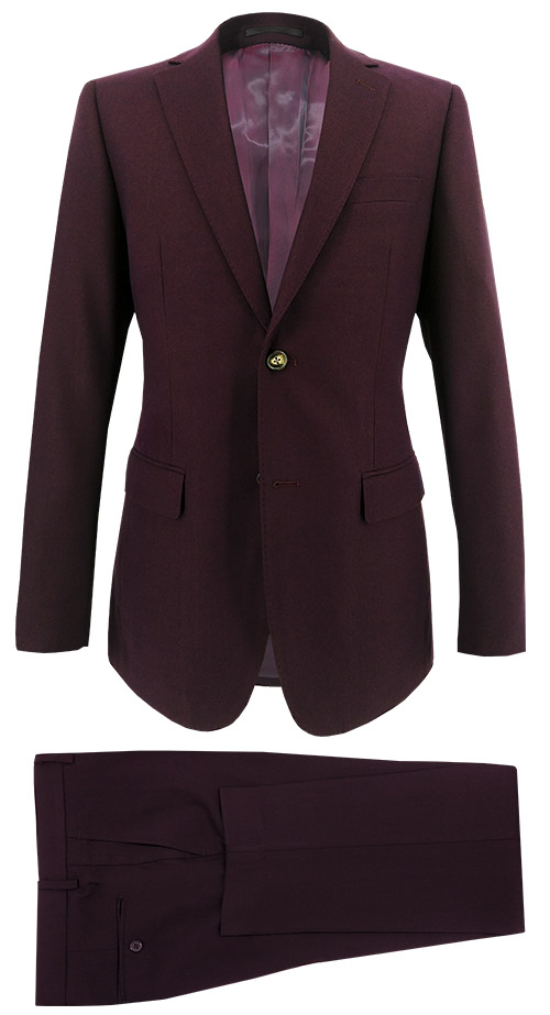 Plain Garnet Suit - Entire suit