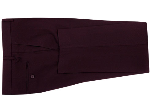 Plain Garnet Suit - Back pants