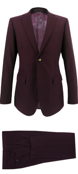 Tailored suit - Plain Garnet Suit