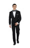 Black Tuxedo 2 Piece Custom Suit - Back pants