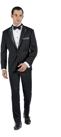 Black Tuxedo 2 Piece Custom Suit