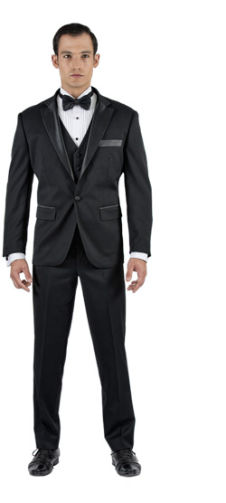 Tailored suit - Black Tuxedo 3 Piece Tailored Suit