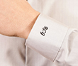 Embroider example on shirt's cuff